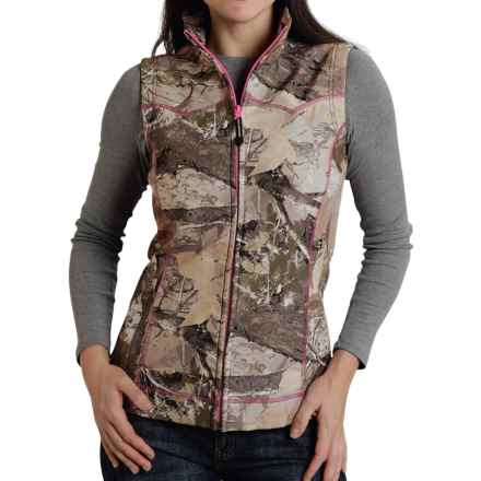 Roper Bonded Fleece Vest - Zip Front (For Women) in Camo - Closeouts