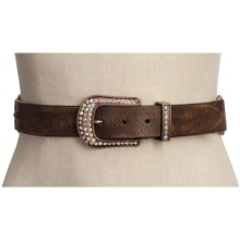 Roper Braided Leather Belt (For Women) in Brown - Closeouts