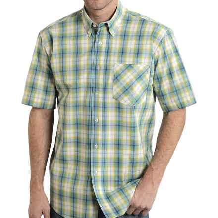Roper Button-Up Shirt - Short Sleeve (For Men and Big Men) in Lemon Grass Plaid - Closeouts