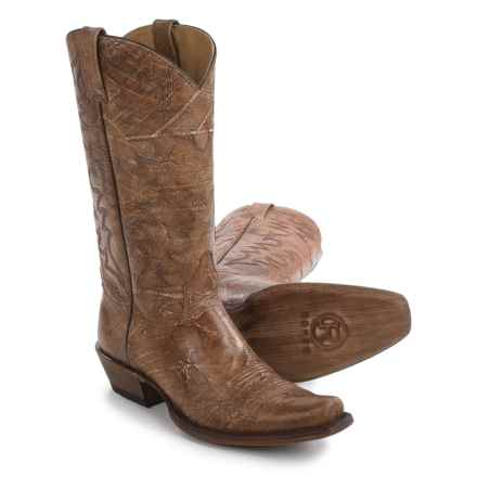 "Roper Carmel Cowboy Boots - 13"", Bandit Toe (For Men) in Brown - Closeouts"