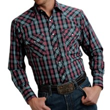 Roper Classic Plaid Shirt - Snap Front, Long Sleeve (For Men and Big Men) in Blue/Red - Closeouts