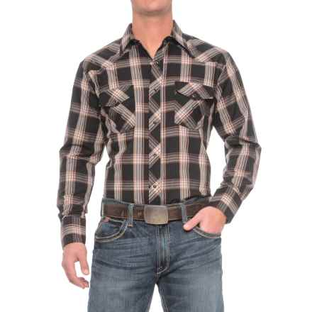 Roper Cotton-Blend Western Shirt - Snap Front, Long Sleeve (For Men) in Black - Closeouts