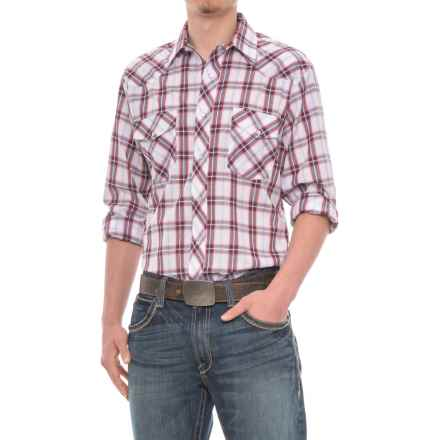 Roper Cotton-Blend Western Shirt - Snap Front, Long Sleeve (For Men) in Red/Navy/White - Closeouts