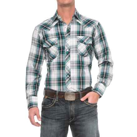 Roper Cotton-Blend Western Shirt - Snap Front, Long Sleeve (For Men) in Teal/Black/White - Closeouts