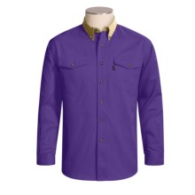 Roper Cotton Twill Contrast Shirt - Long Sleeve (For Men) in Purple - Closeouts