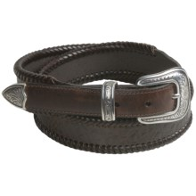 Roper Croc Print Belt - Leather (For Men) in Brown - Closeouts