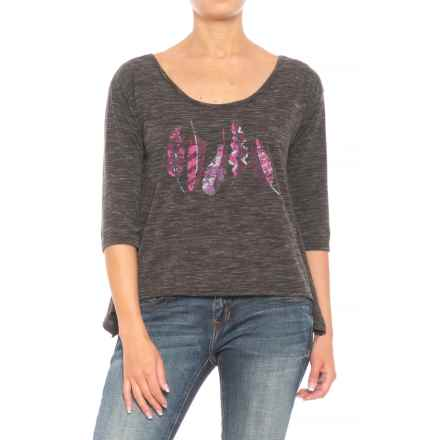 Roper Crossed Back Strap Shirt - Elbow Sleeve (For Women) in Black - Closeouts
