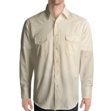 Roper Diamond Dobby Shirt - Long Sleeve (For Men) in White - Closeouts