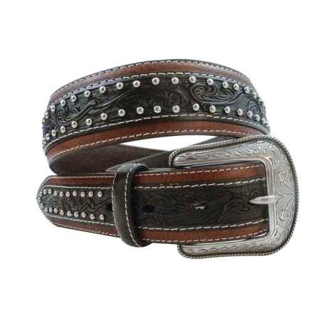 Roper Embossed Leather Belt (For Men) in Brown - Closeouts