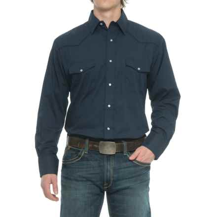 Roper Embroidered Yoke Western Shirt - Snap Front, Long Sleeve (For Men) in Navy - Closeouts