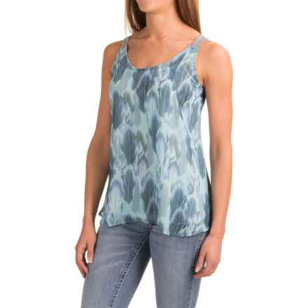 Roper Feather Print Tank Top (For Women) in Grey - Closeouts