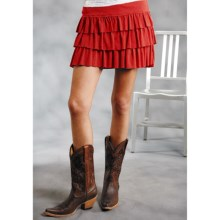 Roper Five Star Mini Skirt (For Women) in Red - Closeouts