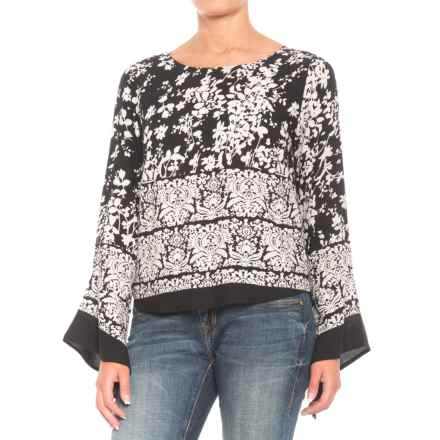 Roper Floral Blouse - Long Sleeve (For Women) in Black/White - Closeouts