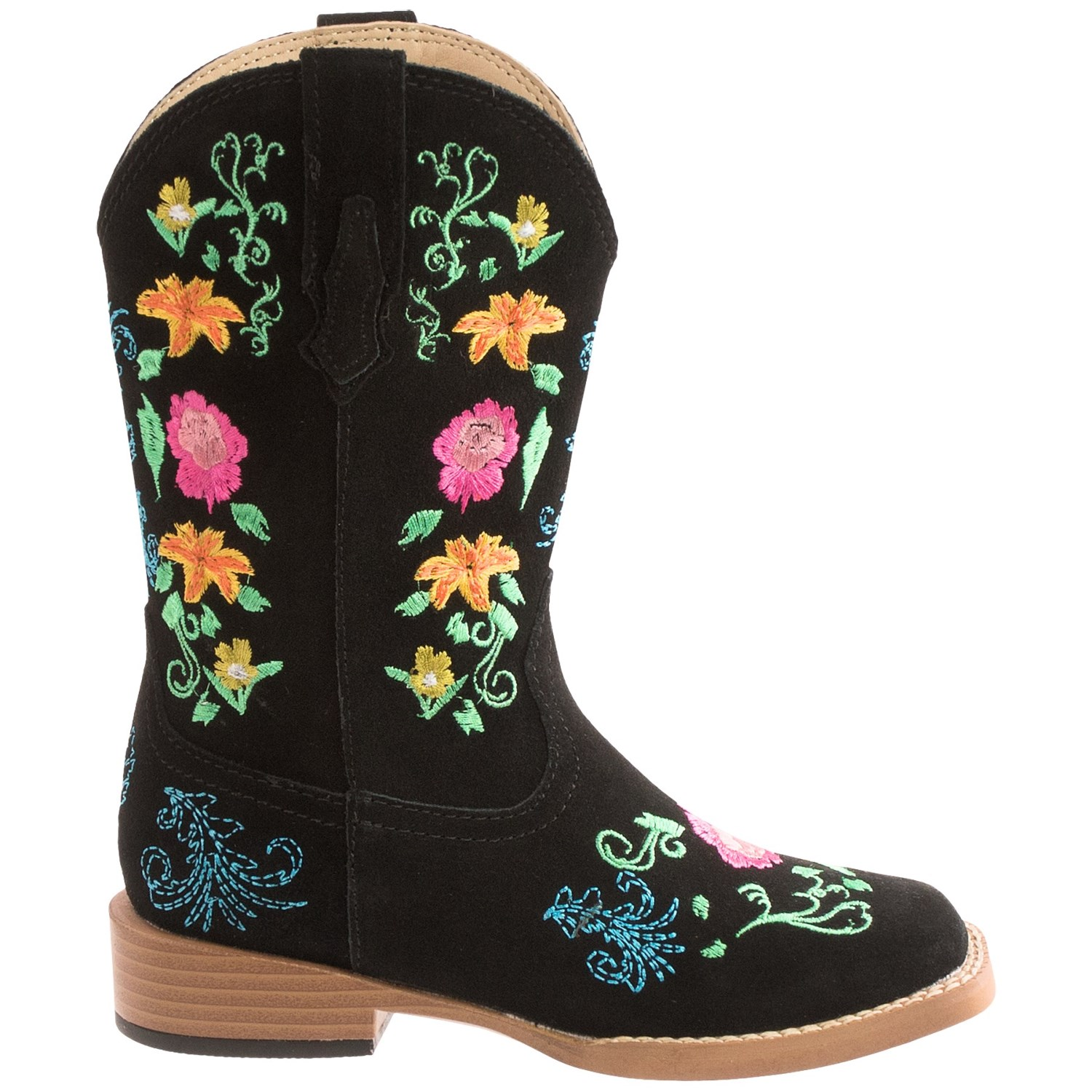 Roper Floral Embroidery Cowboy Boots (For Little Girls ...