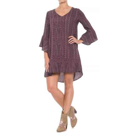 Roper Grapevine Print Dress - 3/4 Sleeve (For Women) in Purple - Closeouts