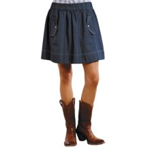 Roper Green Goddess Denim Mini Skirt (For Women) in Blue - Closeouts