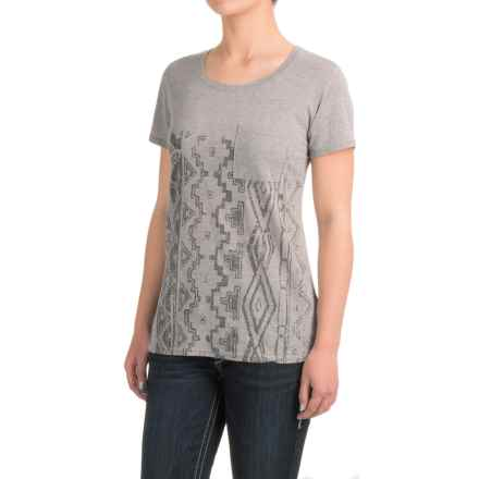Roper Heather Jersey Boyfriend T-Shirt - Short Sleeve (For Women) in Grey - Closeouts