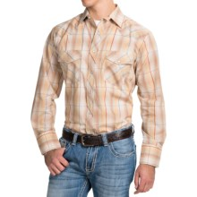 Roper Karman Classic Metallic Plaid Shirt - Snap Front, Long Sleeve (For Men and Big Men) in Earth Tone - Closeouts