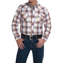 Roper Karman Classic Metallic Plaid Shirt - Snap Front, Long Sleeve (For Men and Big Men) in Tri Color - Closeouts