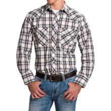 Roper Karman Classic Plaid Shirt - Snap Front, Long Sleeve (For Men and Big Men) in Black/Khaki - Closeouts