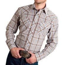 Roper Karman Classic Plaid Shirt - Snap Front, Long Sleeve (For Men and Big Men) in Neutral - Closeouts