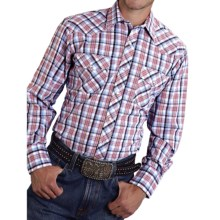 Roper Karman Classic Plaid Shirt - Snap Front, Long Sleeve (For Men and Big Men) in Red/White/Blue - Closeouts