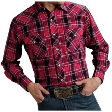 Roper Karman Classic Plaid Shirt - Snap Front, Long Sleeve (For Men and Big Men) in Red - Closeouts