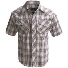 Roper Karman Classic Shirt - Snap Front, Short Sleeve (For Boys) in Black Plaid - Closeouts