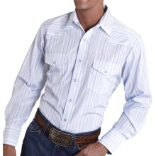 Roper Karman Classic Stripe Shirt - Snap Front, Long Sleeve (For Men and Big Men) in Blue - Closeouts
