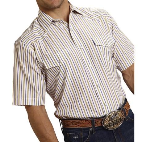 Roper Karman Classic Stripe Shirt Snap Front, Short Sleeve (For Men)