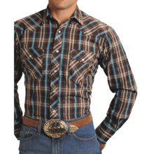 Roper Karman Plaid Shirt - Snap Front, Long Sleeve (For Men) in Brown - Closeouts