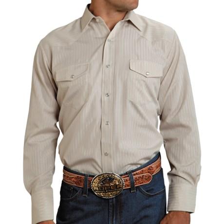 Roper Karman Shirt - Dobby, Long Sleeve (For Men) in Beige