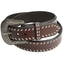Roper Laced Leather Belt (For Men) in Brown - Closeouts