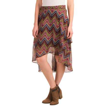 Roper Layered High-Low Skirt (For Women) in Black - Closeouts