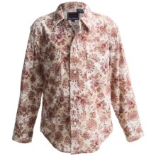 Roper Marble Paisley Print Western Shirt - Snap Front, Long Sleeve (For Boys) in Red - Closeouts