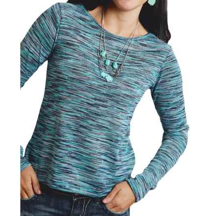 Roper Marbled Sweater (For Women) in Blue - Closeouts
