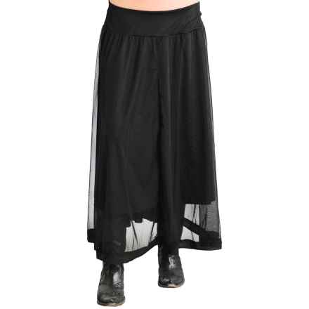 Roper Mesh Knit Maxi Skirt (For Women) in Black - Closeouts