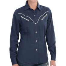 Roper Old West Classic Western Shirt - Snap Front, Long Sleeve (For Women) in Blue - Closeouts