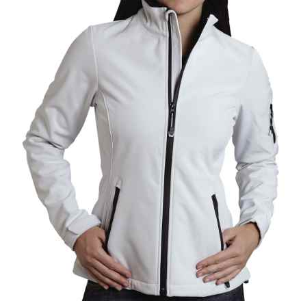 Roper Optic Soft Shell Jacket (For Women) in White - Closeouts