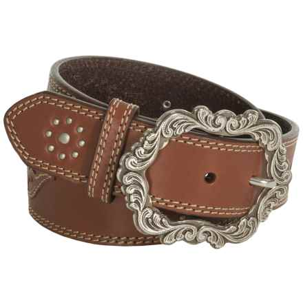 Roper Overlay Bridle Leather Belt (For Women) in Brown - Closeouts