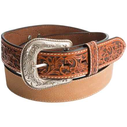 Roper Pebble-Grain Leather Belt (For Men) in Tan - Closeouts