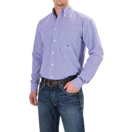 Roper Plaid Shirt - Button Front, Long Sleeve (For Men and Big Men) in Blue Vintage Leather - Closeouts