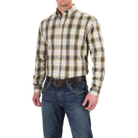 Roper Plaid Shirt - Button Front, Long Sleeve (For Men and Big Men) in Green Forest Lake - Closeouts