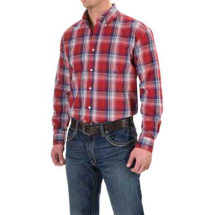 Roper Plaid Shirt - Button Front, Long Sleeve (For Men and Big Men) in Red Indigo Fire - Closeouts