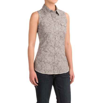 Roper Printed Western Shirt - Snap Front, Sleeveless (For Women) in Grey - Closeouts