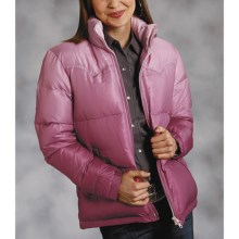 Roper Quilted Down Coat (For Women) in Pink - Closeouts