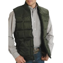 Roper Range Gear Down Vest - Quilted (For Men) in Green - Closeouts