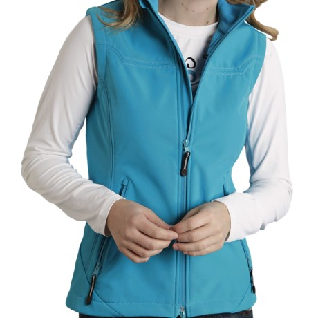 Roper Range Gear Tech Soft Shell Vest (For Women) in Green