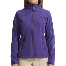 Roper Rangegear Hi Tech Pewter Fleece Soft Shell Jacket (For Women) in Purple - Closeouts