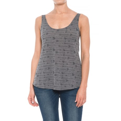 Roper Rayon Jersey Scoop Neck Tank Top (For Women) in Charcoal